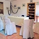 La sala per il rito civile sull'Isola Pescatori