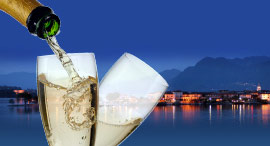 Cruise with aperitif on board, on lake Maggiore